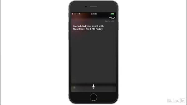 Set reminders: iOS 10: iPhone and iPad Essential Training
