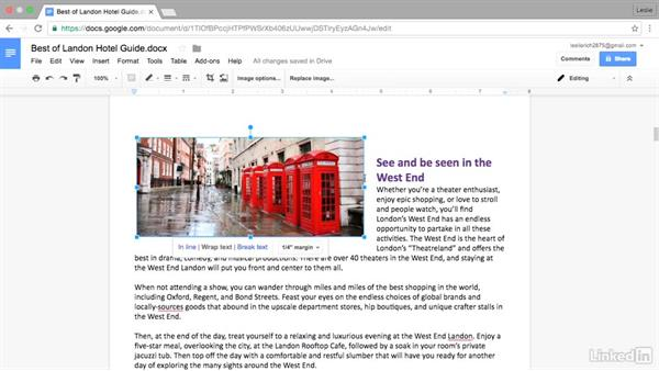 Work with images within a doc: Google Docs Advanced Tips and Tricks