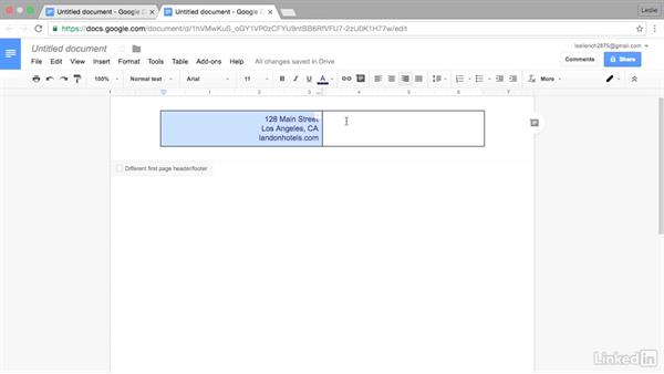 Insert a drawing into a header: Google Docs Advanced Tips and Tricks