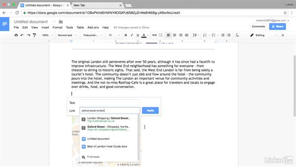 Insert links using Google searches: Google Docs Advanced Tips and Tricks