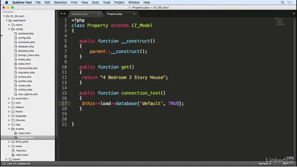 Database configuration: Learn CodeIgniter 3: The Basics