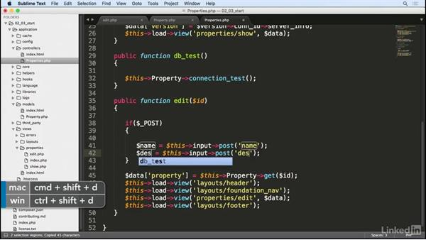Update forms: Learn CodeIgniter 3: The Basics