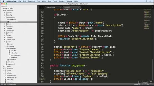 Handle file uploads: Learn CodeIgniter 3: The Basics