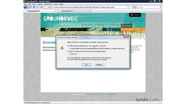 Creating a page containing video: XHTML and HTML Essential Training