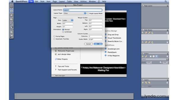 Managing files in Quark: QuarkXPress 8 Essential Training