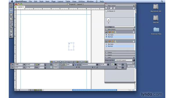 Exploring the QuarkXPress interface: QuarkXPress 8 Essential Training