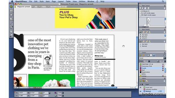 Navigating your layout: QuarkXPress 8 Essential Training