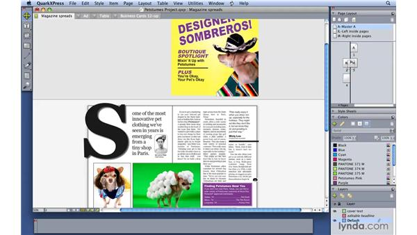 Adding and moving pages: QuarkXPress 8 Essential Training