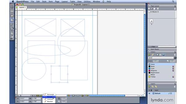 Making boxes and lines: QuarkXPress 8 Essential Training