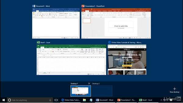 Use multiple desktops: Customizing Windows 10 for Accessibility and Ease of Use