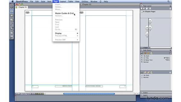 Modifying your pages: QuarkXPress 8 Essential Training