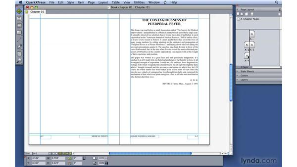 Working with sections and page numbering: QuarkXPress 8 Essential Training