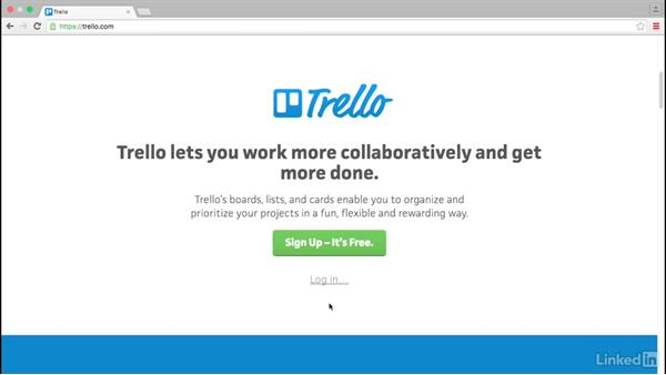 Signing in to Trello: Trello for Video Post Production