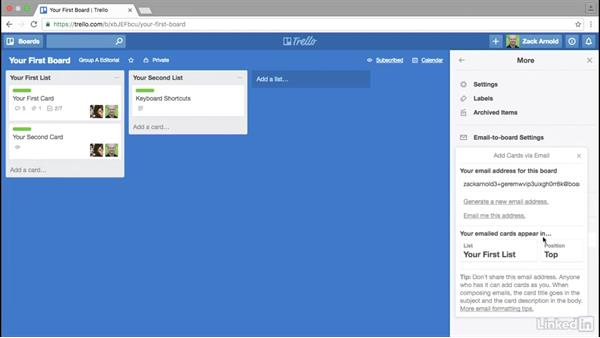 Forwarding emails to boards and cards: Trello for Video Post Production