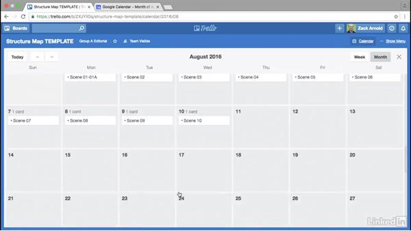 Assigning shoot dates: Trello for Video Post Production