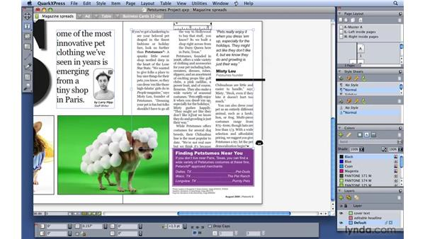 Applying leading to paragraphs: QuarkXPress 8 Essential Training