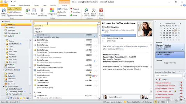 Apply search and filter tools: Outlook 2010: Prepare for the Microsoft Office Specialist Certification Exam (77-884)