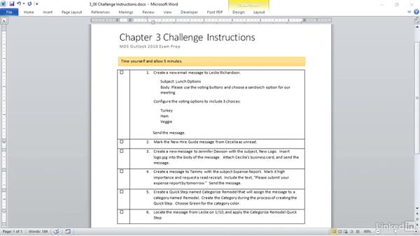 ✓ Challenge: Create and format item content: Outlook 2010: Prepare for the Microsoft Office Specialist Certification Exam (77-884)