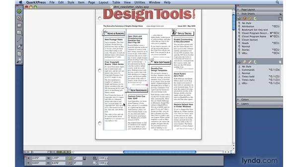 Linking items together: QuarkXPress 8 Essential Training