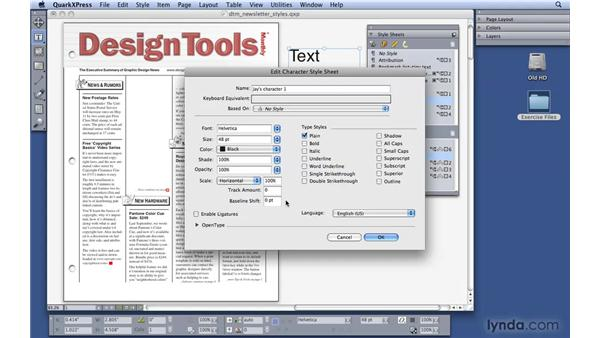 Creating style sheets: QuarkXPress 8 Essential Training