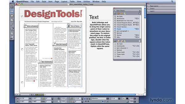 Editing style sheets: QuarkXPress 8 Essential Training