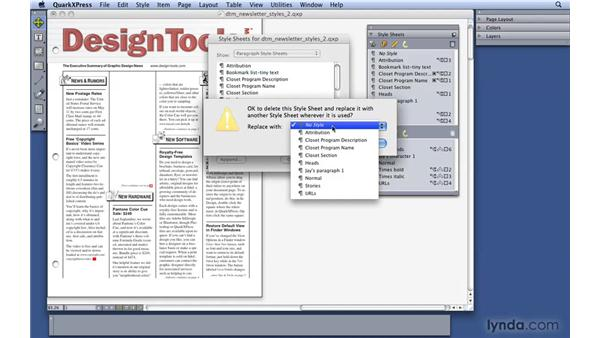 Deleting styles: QuarkXPress 8 Essential Training