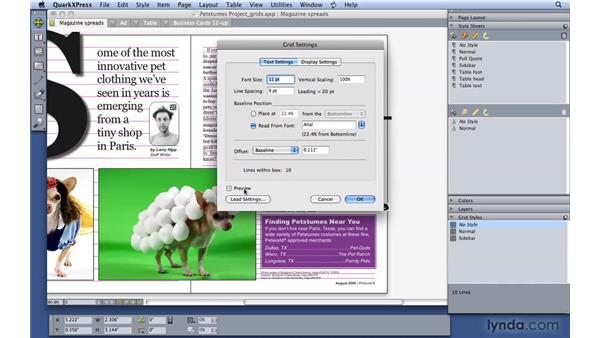 Using grids: QuarkXPress 8 Essential Training