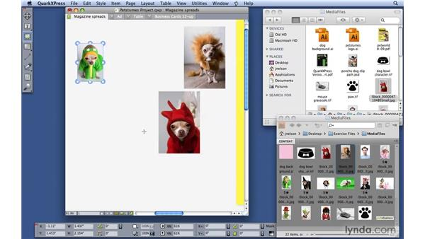 Importing pictures: QuarkXPress 8 Essential Training