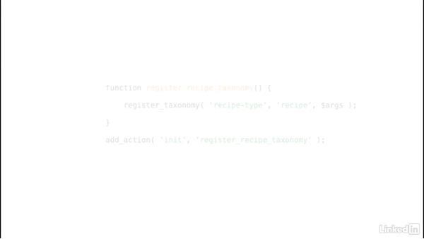 Creating custom taxonomies: WordPress: Creating Custom Plugins with PHP