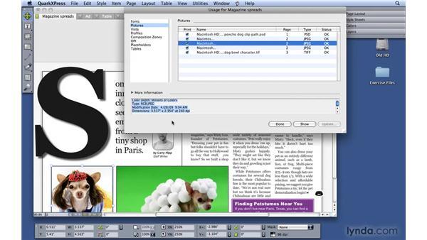 Mastering picture management: QuarkXPress 8 Essential Training