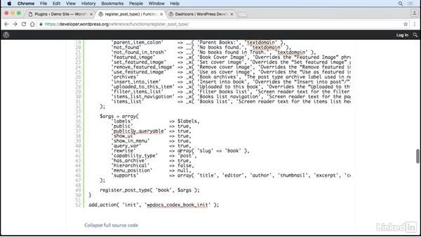 Writing our custom post type: WordPress: Creating Custom Plugins with PHP