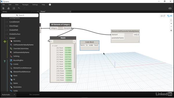 Read Revit parameter data with Dynamo
