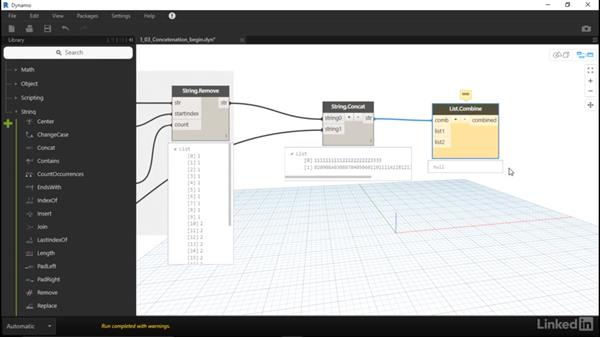 Concatenate lists of strings with Dynamo: Dynamo for Revit Workflow