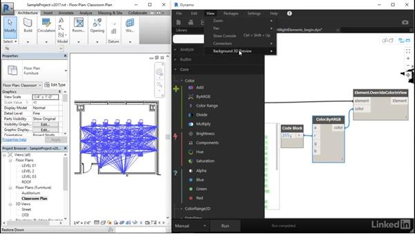 Highlight Revit elements with Dynamo