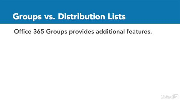 Office 365 groups vs. distribution lists: Office 365: Groups for Administrators