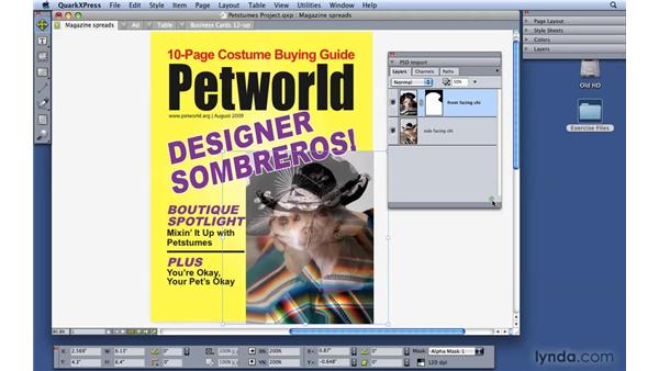 Working with Photoshop documents: QuarkXPress 8 Essential Training
