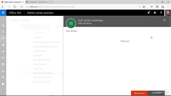Edit group name and description: Office 365: Groups for Administrators