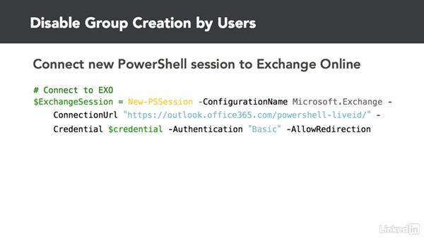 Disable Office group creation for users: Office 365: Groups for Administrators