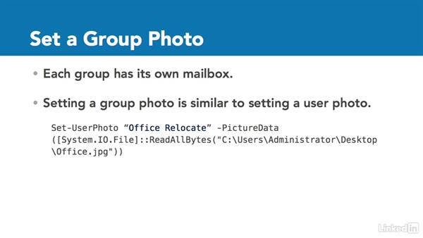 Set a group photo: Office 365: Groups for Administrators
