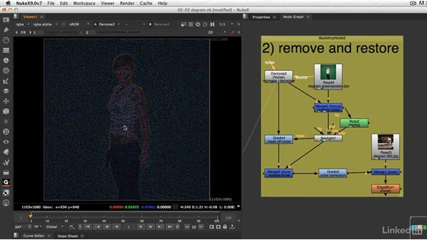 How to manage grain and noise: VFX Keying: Master Course