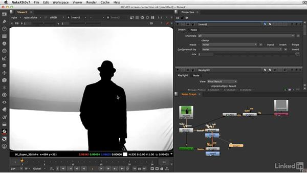 Screen-correction workflow: VFX Keying: Master Course