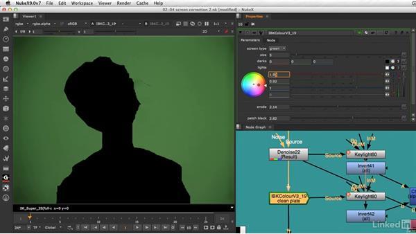 Tips on adjusting the IBKColor node: VFX Keying: Master Course