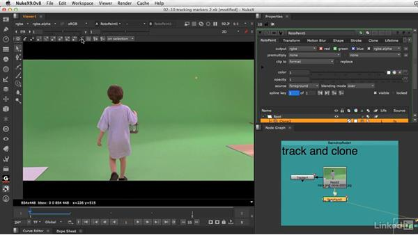 Tracking marker removal techniques: VFX Keying: Master Course