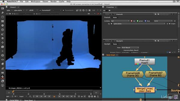 Building a clean plate from a clip: VFX Keying: Master Course