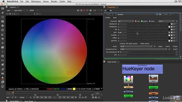 Keying on hue: VFX Keying: Master Course