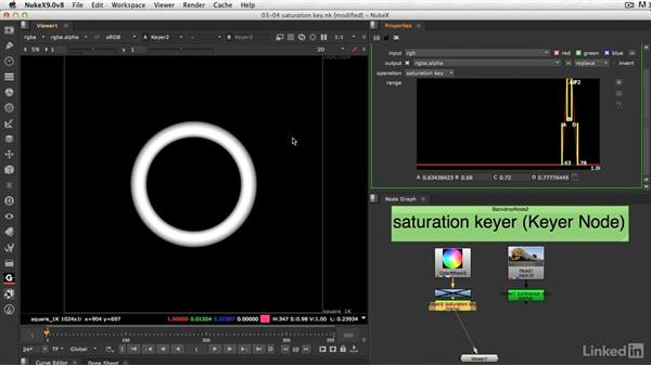 Keying on saturation: VFX Keying: Master Course