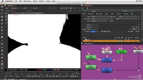 How to cut and paste keys together: VFX Keying: Master Course