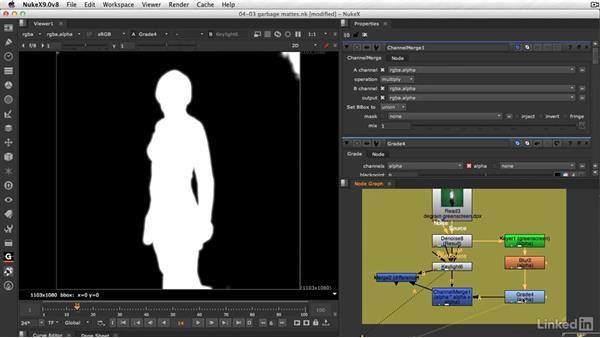 Using garbage mattes to save time: VFX Keying: Master Course
