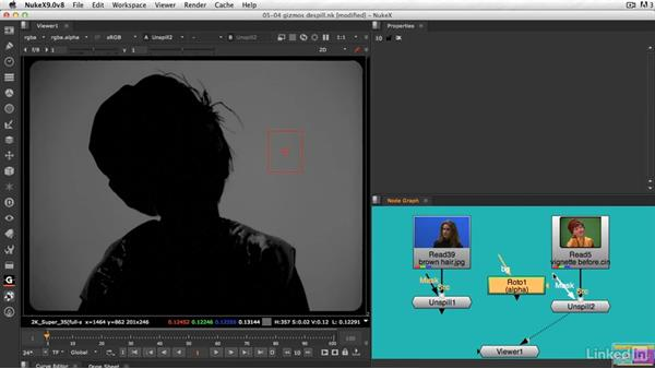 Spill suppression with gizmos: VFX Keying: Master Course