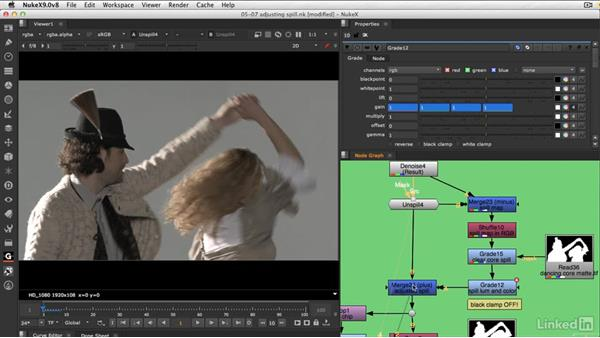 Adjusting the spill luminance and color: VFX Keying: Master Course